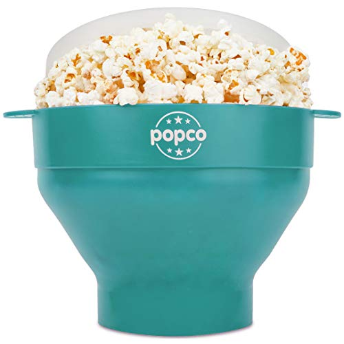 The Original Popco Silicone Microwave Popcorn Popper with Handles