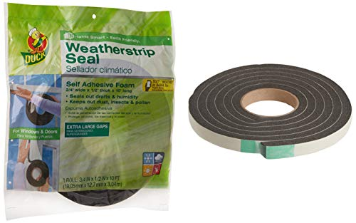 Duck Brand Self Adhesive Foam Weatherstrip Seal for Extra Large Gaps