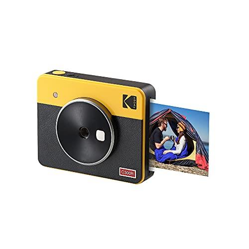 """Kodak Mini Shot 3 Retro 2-in-1 Portable 3x3"""" Wireless Instant Camera & Photo Printer"""