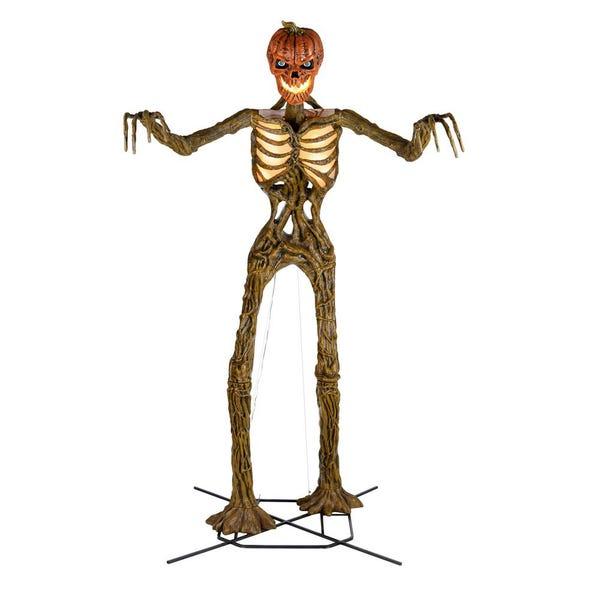 12 ft Giant-Sized Inferno Pumpkin Skeleton with LifeEyes(TM) LCD Eyes