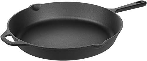 Amazon Basics Pre-Seasoned Cast Iron Skillet Pan, 15 Inch