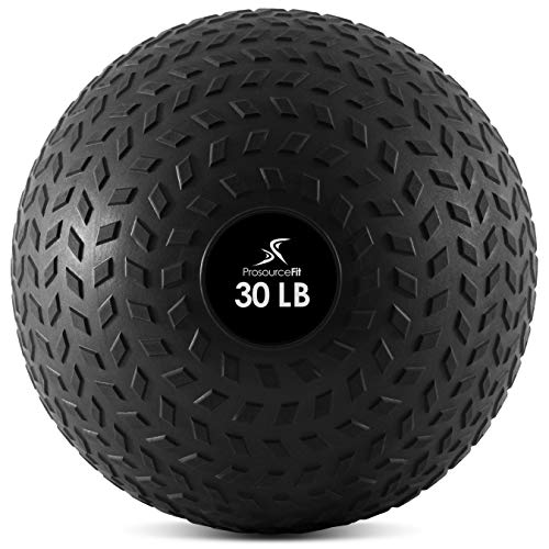 ProsourceFit Slam Medicine Balls 30lbs Tread Textured Grip Dead Weight Balls for Crossfit, Strength and Conditioning Exercises, Cardio and Core Workouts (ps-2221-tsb-30)
