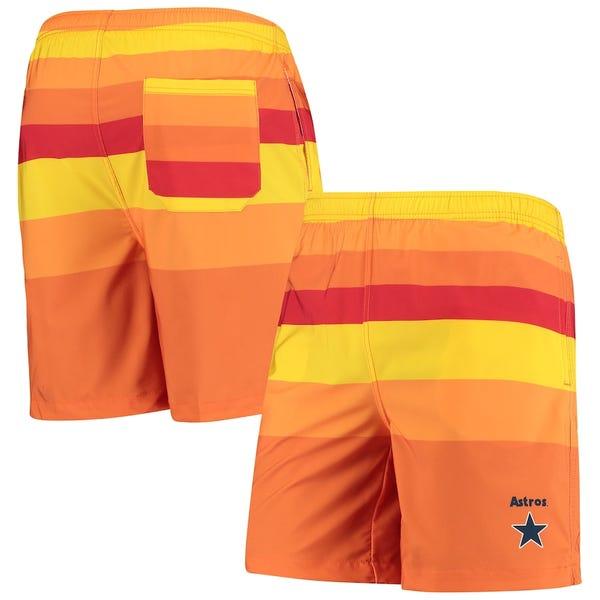 Men's Houston Astros Orange Cooperstown Collection Mini Logo Swim Shorts