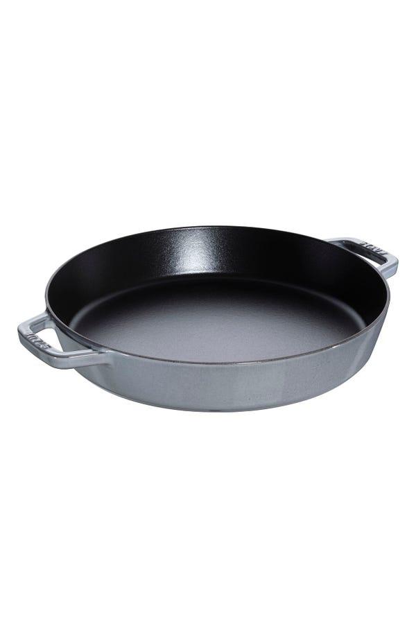 Staub 13-Inch Enameled Cast Iron Double Handle Fry Pan
