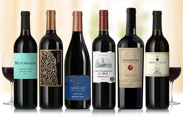 Enjoy 6 world-class wines for ONLY $29.99*