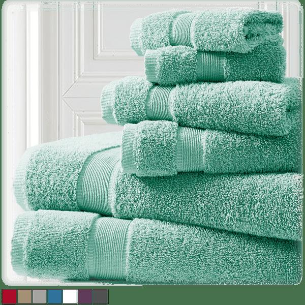 Spirit Linen Home 100% Cotton 6-Piece Towel Sets