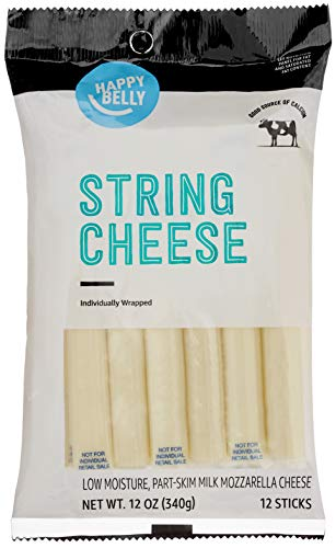 Amazon Brand - Happy Belly Mozzarella String Cheese