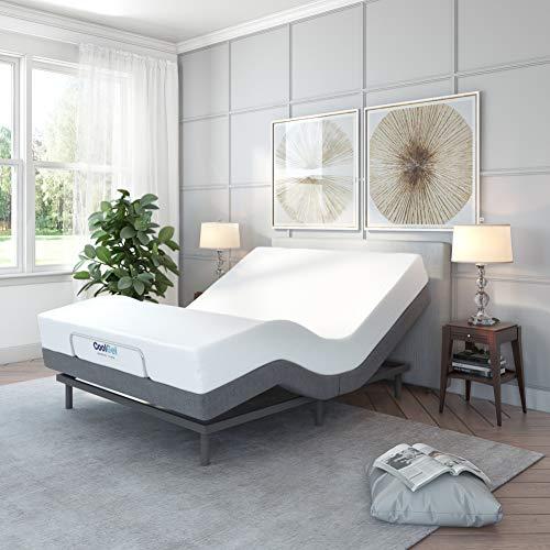 Classic Brands Comfort Upholstered Adjustable Bed Base with Massage
