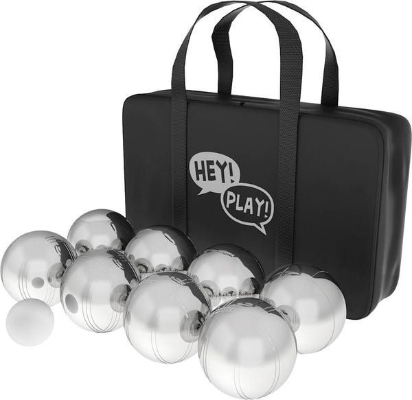 Hey! Play! - Petanque Ball Set - Polished Steel