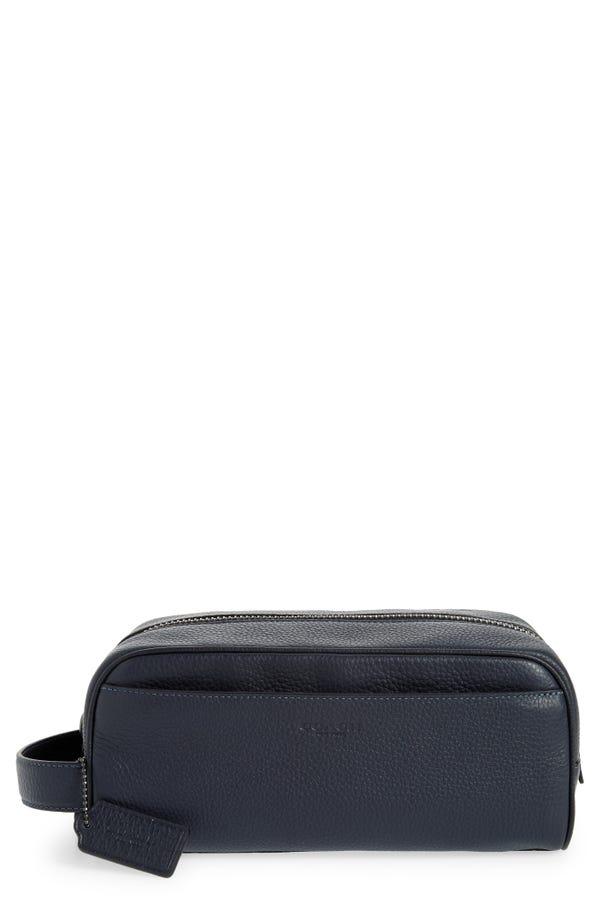COACH grained leather Dopp kit