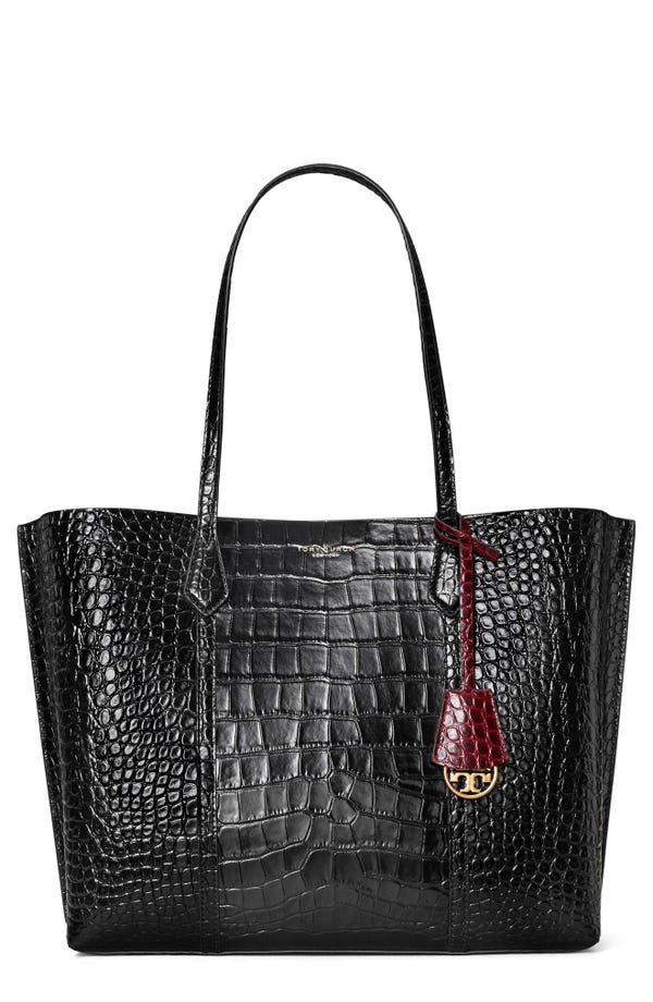 Tory Burch Perry tote in crocodile-embossed leather