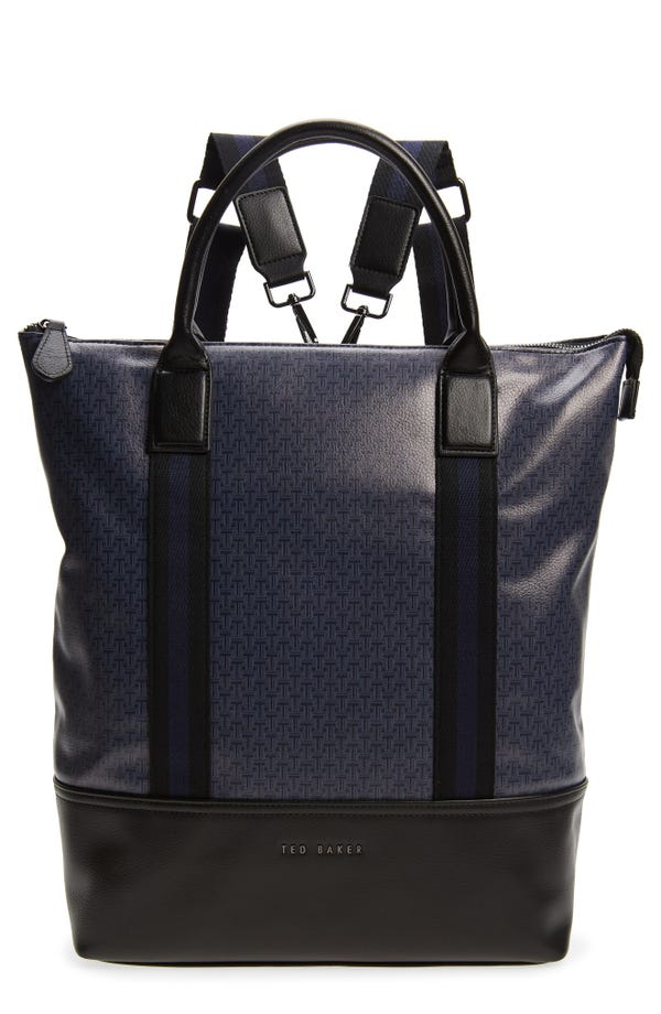 Ted Baker London Tame T-print faux leather backpack