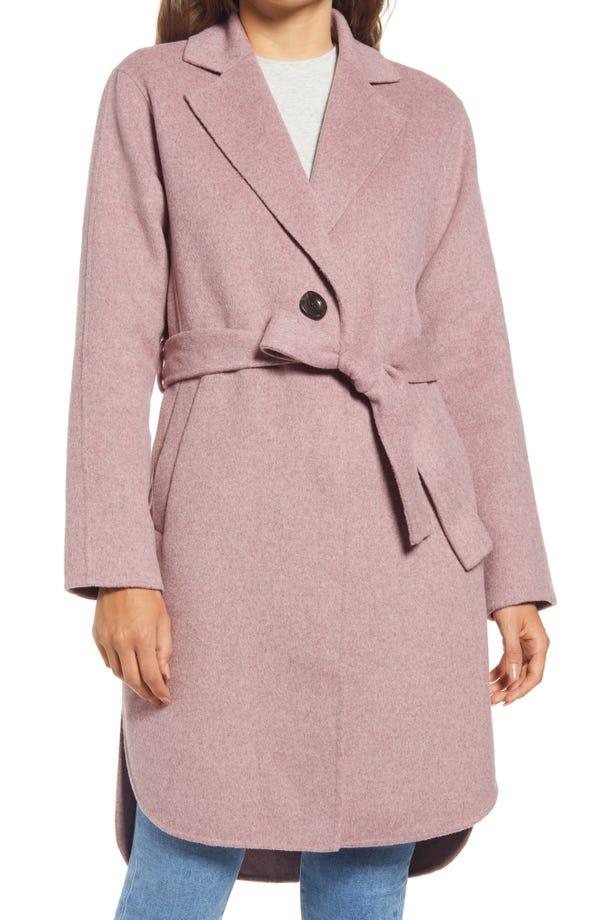 Sam Edelman Belted Wool Blend Coat