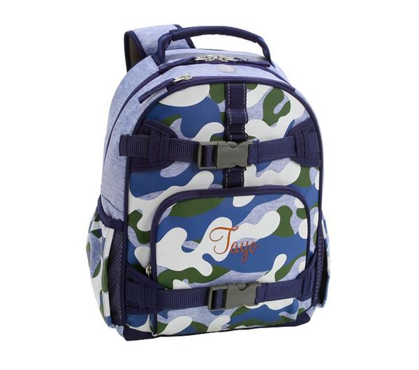 Mackenzie Blue Green Camo Glow-in-the-dark Backpacks