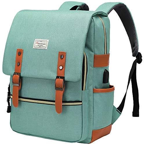 Vintage Slim Laptop Backpack for Women