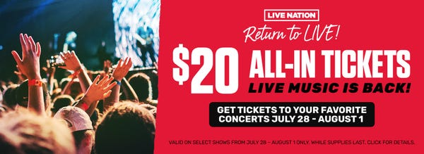 Live Nation All-In Tickets