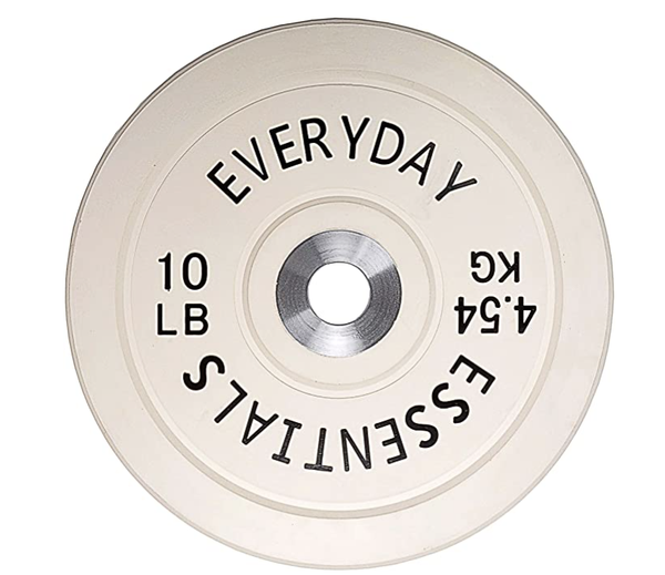 Everyday Essentials Color Coded Olympic Bumper Plate Weight Plate