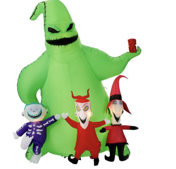 9 ft. Oogie Boogie with Lock Shock and Barrel Scene Airblown Disney Halloween Inflatable