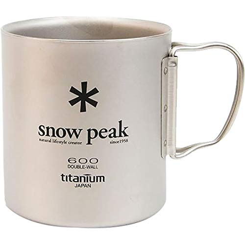 Snow Peak Japanese Titanium 600 Mug, Made in Japan, Ultralight for Camping and Backpacking