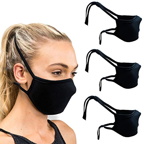 Cloth Face Mask with Head Strap and Filter Pocket- (Pack of 3)