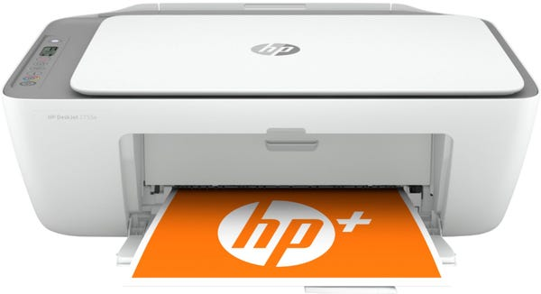 HP - DeskJet 2755e Wireless Inkjet Printer with with 6 months of Instant Ink Included with HP+
