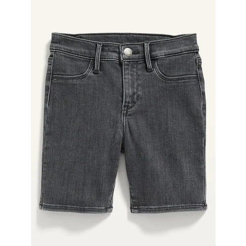 Ballerina Black-Wash Jean Shorts for Girls