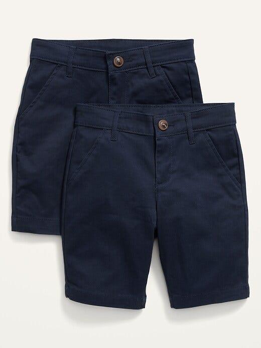 Uniform Twill Bermuda Shorts 2-Pack for Girls