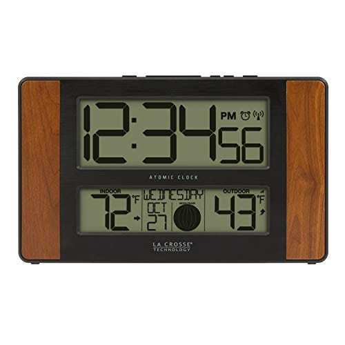 La Crosse Technology Atomic Digital Clock with Temperature and Moon Phase