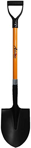 Ashman Round Shovel - The Round Shovel has a D Handle Grip with 41 Inches Long Shaft with a Durable Handle