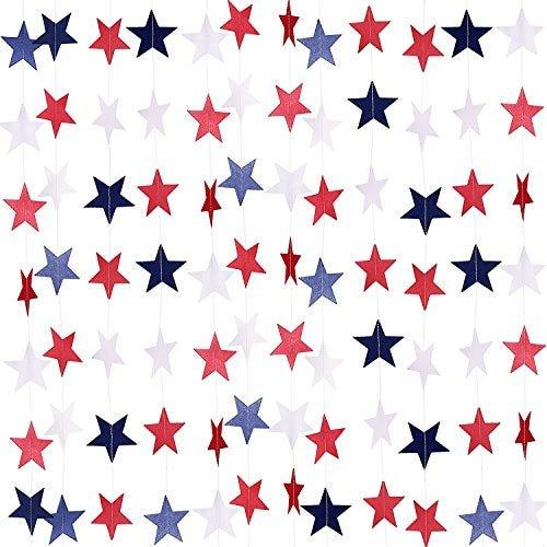 Patriotic Star Streamers Banner Garland