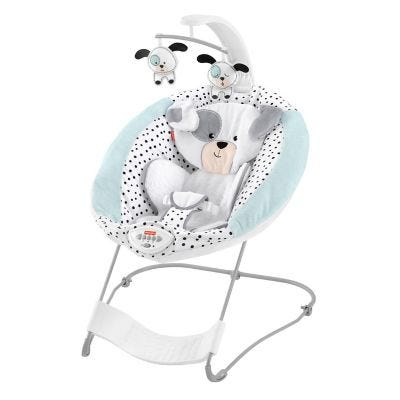 Fisher-Price® Dots & Sports Puppy See & Soothe™ deluxe bouncer