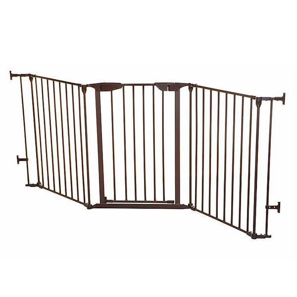 Dreambaby Newport Adapta-Gate in brown