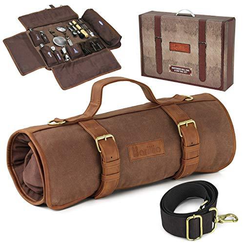 Barillio Bartender Bag Travel Bartender Kit Bag with Bar Tools