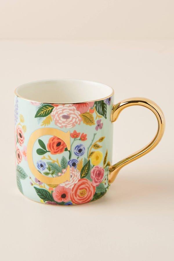 Garden Party Monogram Mug