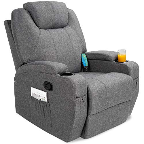 Swivel Electric Massage Recliner Chair with Remote Control