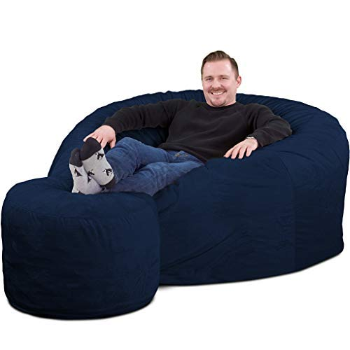 Bean Bag Chair with Foot Stool