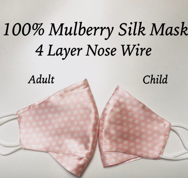Silk mask with Nose Wire 4 layers