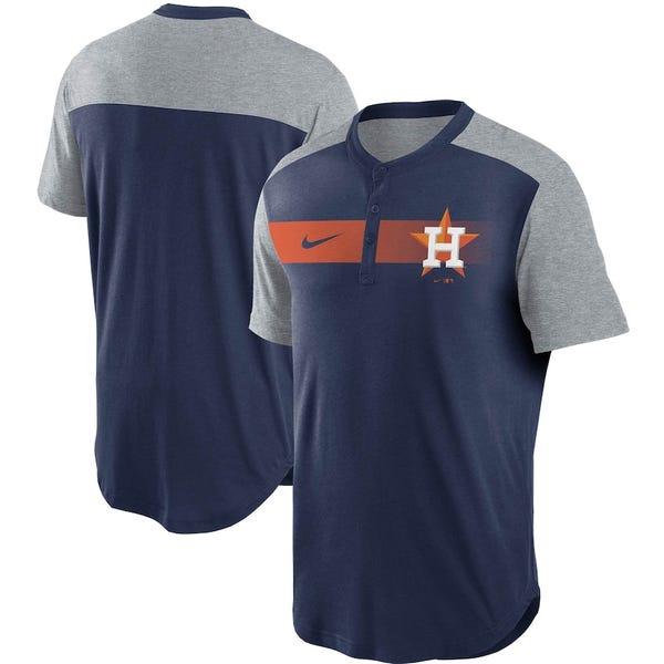 Fade Performance Tri-Blend Henley T-Shirt