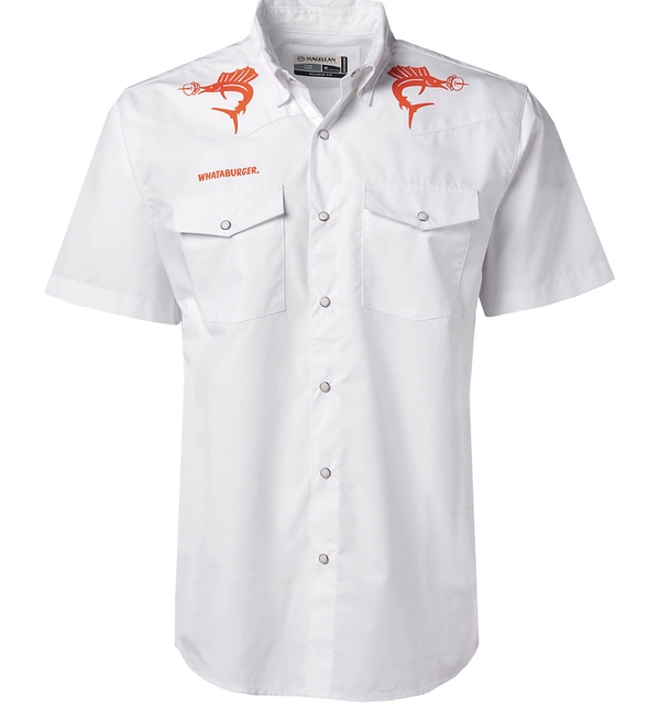Magellan Outdoors Men's FishGear Whataburger Pecos Marlin Burger Short Sleeve Shirt