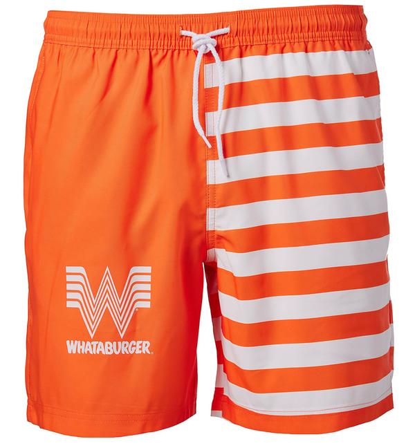 Magellan Outdoors Men's FishGear Whataburger Logo Stripe Boat Shorts 7-in