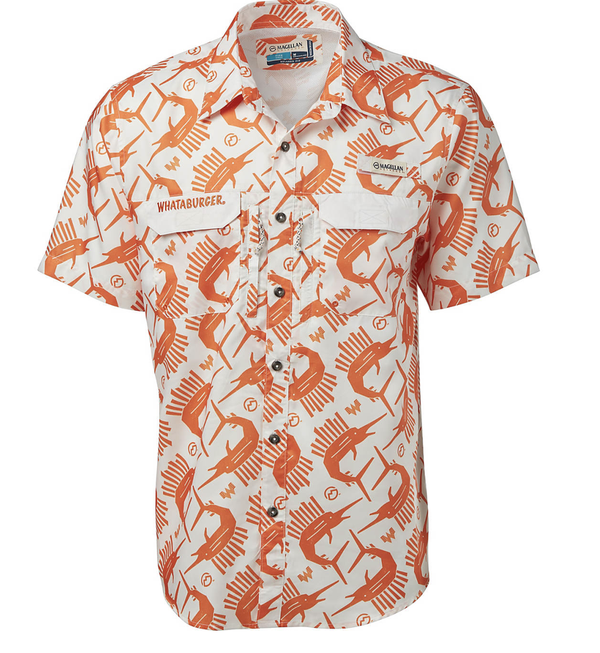 Magellan Outdoors Men's FishGear Whataburger Fry Sailfish Short Sleeve Shirt