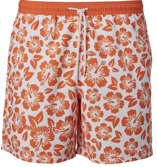 Magellan Outdoors Men's FishGear Whataburger Hibiscus Boat Shorts 7-in