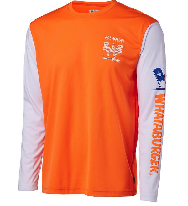 Magellan Outdoors Men's FishGear Whataburger TX Print Long Sleeve T-shirt