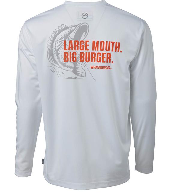 Magellan Outdoors Men's FishGear Whataburger Large Mouth Big Burger Long Sleeve T-shirt