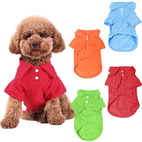 4 Pack Dog Shirts