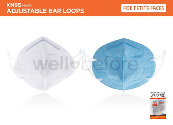 Kids (Petite Faces) KN95 - Adjustable - Individually Wrapped