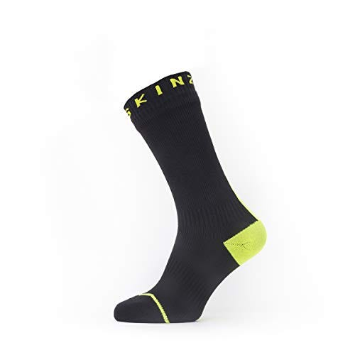 SEALSKINZ Unisex Waterproof All Weather Mid Length Sock With Hydrostop
