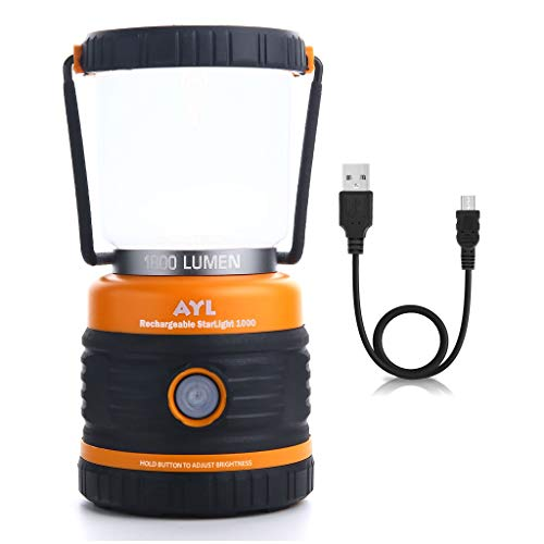 Waterproof, Rechargeable, LED Camping Lantern with USB Cable