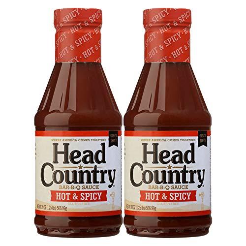 Head Country Bar-B-Q Sauce, Hot & Spicy Flavor