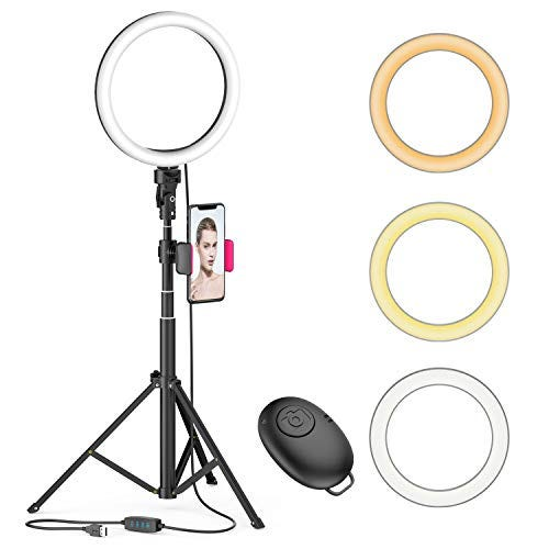 Ring Light with 51'' Extendable Tripod Stand